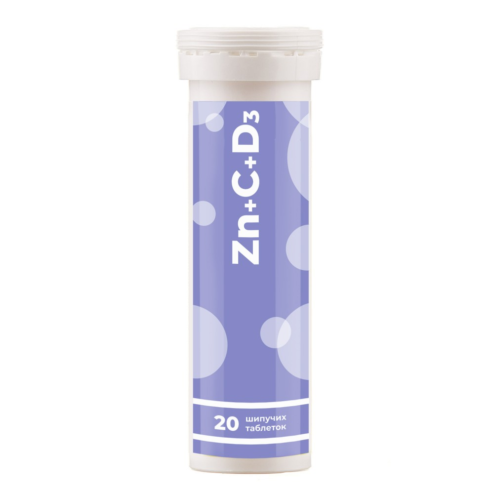 """Dietary supplement """"Zinc with vitamins C and D3"""" effervescent tablets, №20"""